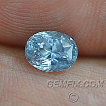 untreated oval blue aqua Montana Sapphire