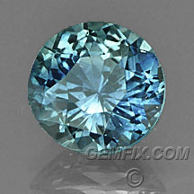 round Montana Sapphire blue green
