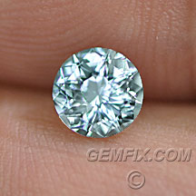 round light aqua blue Montana Sapphire