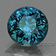 teal blue green round Montana Sapphire