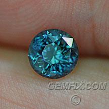 Montana Sapphire round teal