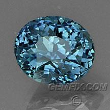 denim blue oval Montana Sapphire