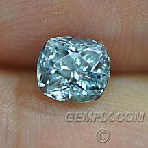 Montana Sapphire cushion blue silver green