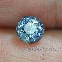 Montana Sapphire round blue bi color