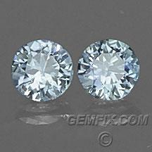 Montana Sapphire round pair