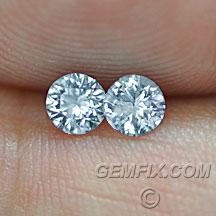 round matched pair Montana Sapphire