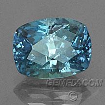 cushion Montana Sapphire blue green