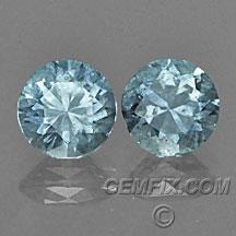 Montana Sapphire round pair aqua blue
