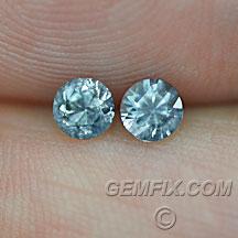 pair of round Montana Sapphires