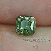 green square princess cut Montana Sapphire