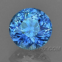 Montana Sapphire cornflower blue round
