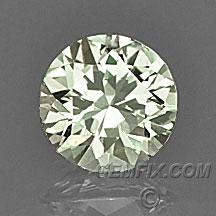 diamond cut yellow round Montana Sapphire