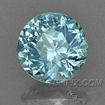 unheated blue green round Montana Sapphire
