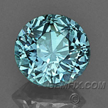 green blue round Montana Sapphire