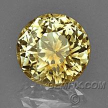 Montana Sapphire round diamond yellow