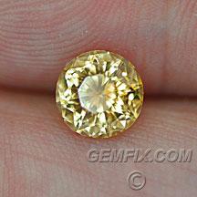 round yellow Montana Sapphire