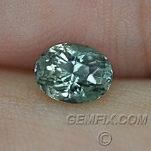 Montana Sapphire unheated green oval
