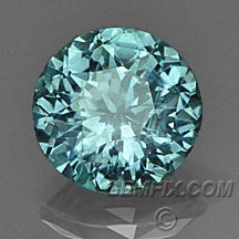 blue green round untreated Montana Sapphire