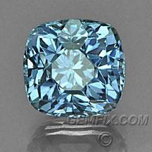 Montana Sapphire cushion denim blue