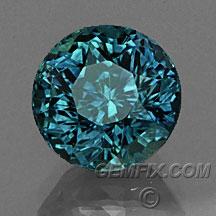 teal round green blue Montana Sapphire