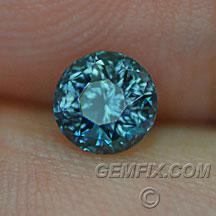 Montana Sapphire round blue green teal