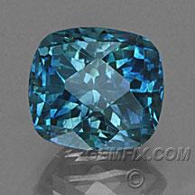 Montana Sapphire blue cushion