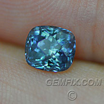 cushion blue Montana Sapphire