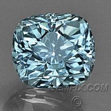 untreated blue cushion Montana Sapphire