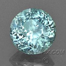 round untreated Montana Sapphire blue