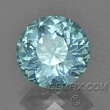 no heat aqua blue Montana Sapphire round