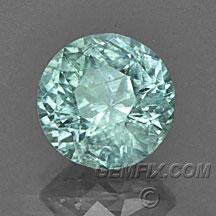 green unheated Montana Sapphire round