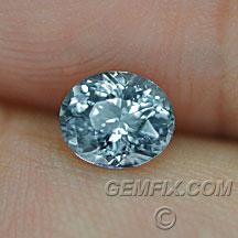 Montana Sapphire blue grey oval