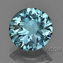 denim blue round unheated Montana Sapphire