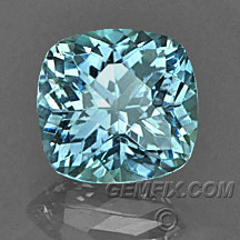 Montana Sapphire unheated blue green cushion