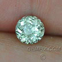 round Montana Sapphire untreated green yellow