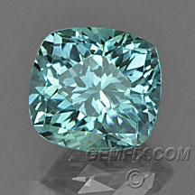 cushion blue green unheated Montana Sapphire