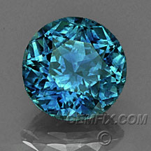 round blue Montana Sapphire