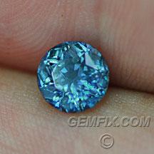 Montana Sapphire deep blue teal round