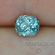 Montana Sapphire cushion untreated green blue