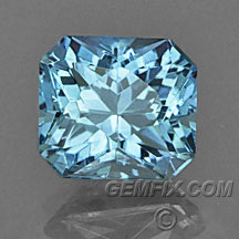 radiant cut blue Montana Sapphire
