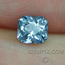 Montana Sapphire radiant cut blue