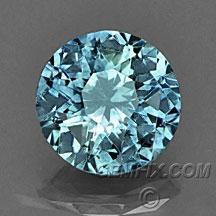 green blue Montana Sapphire round