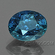 deep blue Montana Sapphire oval