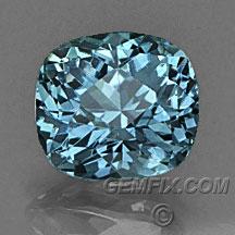 blue Montana Sapphire cushion