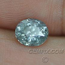 unheated oval Montana Sapphire