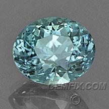 green blue oval Montana Sapphire