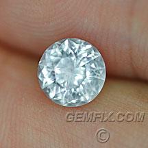 unheated Montana Sapphire round brilliant cut