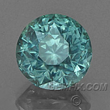 large blue green unheated round Montana Sapphire