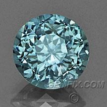 blue green round Montana Sapphire