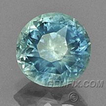 round blue green Montana Sapphire